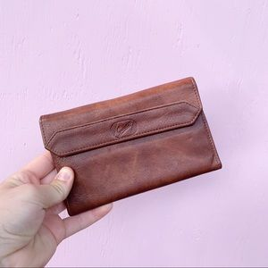 Vintage Giudi Brown Cowhide Leather Trifold Wallet